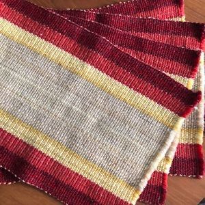 Set of four vintage woven placemats
